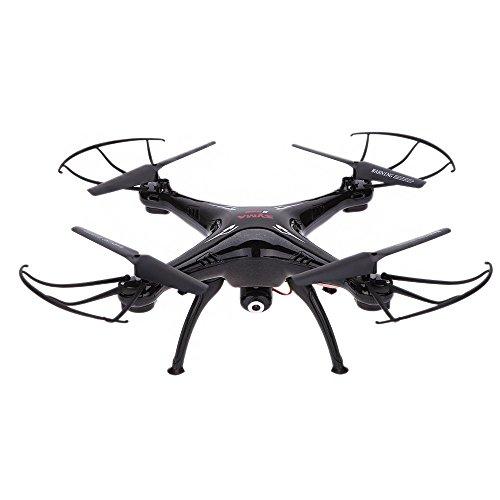 Syma X5SC Nuova Versione Syma X5SC-1 Falcon Drone videocamera HD Vibrazione di 4 Canali 2.4G Telecomando Quadcopter 6 Asse 3D Fly UFO 360 Gradi Eversione (Nero\Black)