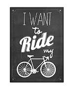 NOORMAL Lienzo Ride My Bike