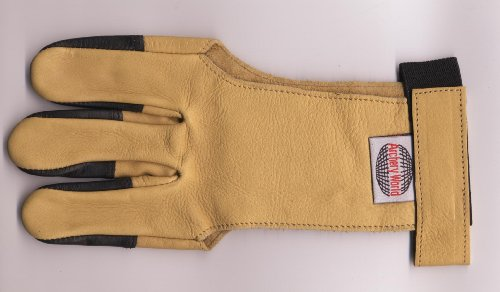 Archery Traditional Soft Skin Finger Glove - Large
