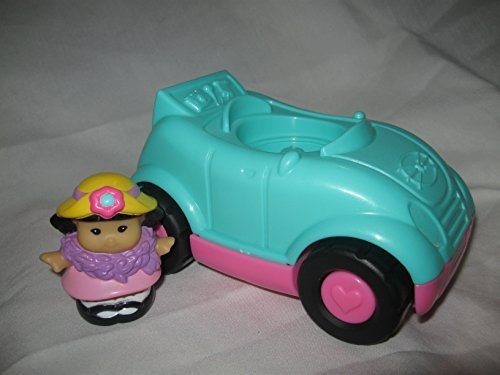 Fisher Price Little People Musical Convertable Car Play Set Mini Van SUV House Play Sets With Figure Sonya Lee Teal & Pink - 1