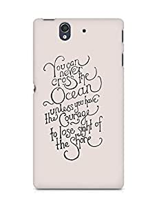 AMEZ you can never cross the Ocean Back Cover For Sony Xperia Z