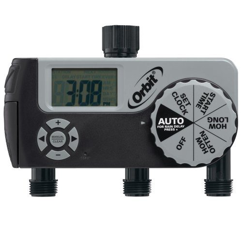 Orbit 56233D 3-Outlet Digital Watering Timer (1 Manual/2 Digital) (3 4 Valve Timer compare prices)