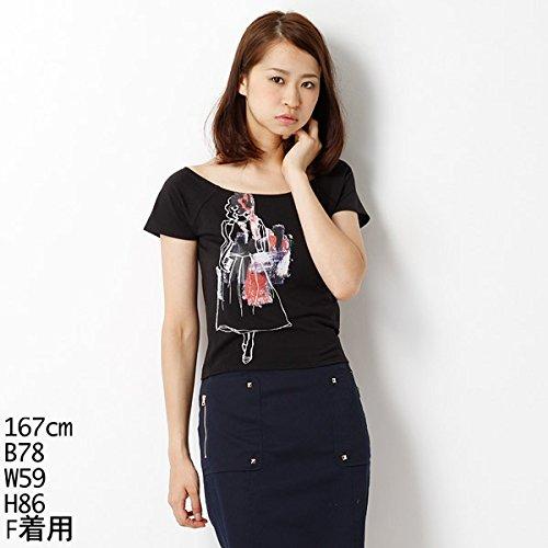 ムルーア(MURUA) Tシャツ(ペイントMIXレディT-SH)【M09ブラック/F】