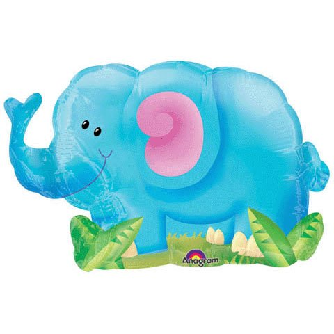 Jungle Party Elephant Mini-Shape Balloon - 1