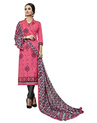 Women Icon Presents Pink Embroidered Un-Stitched Dress Material WICKFVSIDC781010