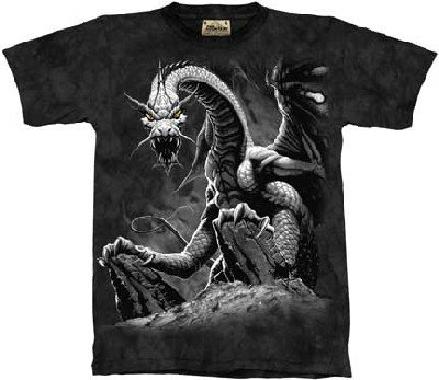 Black Dragon T-Shirt 100% Cotton Short Sleeve Shirt Pre-Shrunk. Black,LargeBlack Dragon T-Shirt 100% Cotton Short Sleeve Shirt Pre-Shrunk. Black,Large