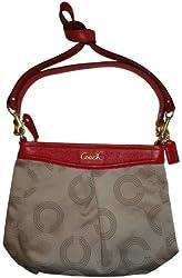 Coach Ashley Dotted Hippie Bag F20088 - Khaki Cherry