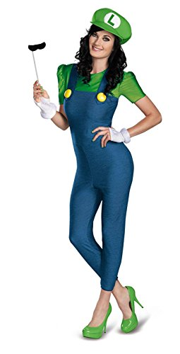 Super Mario Bros. - Luigi Female Deluxe Plus Size Adult Costume