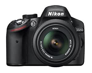 Nikon D3200 24.2 MP CMOS Digital SLR with 18-55mm f/3.5-5.6 Auto Focus-S DX VR NIKKOR Zoom Lens (Black) (OLD MODEL)
