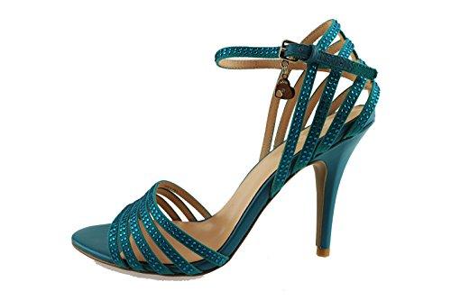 LIU JO sandali donna celeste blu tessuto strass (38 EU, Celeste)
