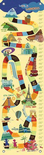 Oopsy daisy World Wonders Growth Chart by Jenny Kostecki- Shaw, 12 by 42 Inches
