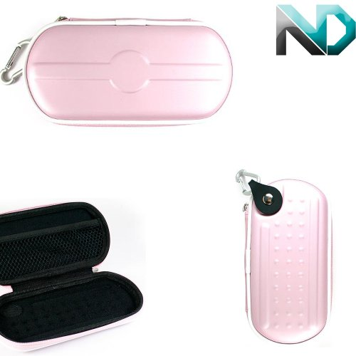 Electronic Cigarette Case And Travel Mate For Vaprlife Diamante Vv For E-Cigs [Pink Pvc Rubber] + Complimentary Nextdia ™ Velcro Cable Strap