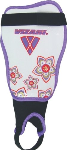 Vizari Magnolia Soccer Shin Guards (White/Red/Purple, Adult Medium)