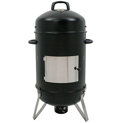 "XL Räucher Tonne ""Hickory"", Ø 46 cm Räucherofen, Smokertonne, BBQ Holzkohle Grill, 107 cm hoch"