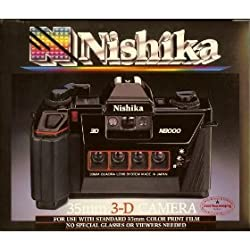 Nishika N8000 35 mm Quadrascopic Stereo 3D Lenticular Camera