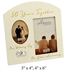 """buy Contemporary """"50 Years Together"""" Then And Now Golden Anniversary Frame By Haysom Interiors"""