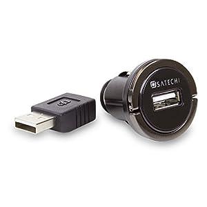 Satechi® Smart Converter USB Port Cigarette Adapter for iPhone 6 Plus, 6, 5S, 5C, 5, 4S, iPad Air, Mini Retina, Samsung Galaxy S5, S4, Note 3, 2, HTC One, Nexus 5, LG Optimus, BlackBerry Playbook, HTC One and more (2.4 AMP) (Single USB Port)