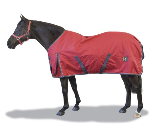 Derby House Sport Medium/Lite Standard Turnout Rug (Red/Grey,5ft6)