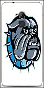 Snoogg Bulldog Dog Head Mascot Designer Protective Back Case Cover For HTC One-Max