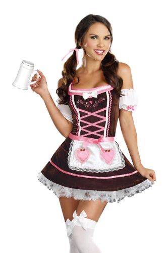 Dreamgirl Women's Sexy Bavarian Maiden Costume Beer Girl Carrie Mehome