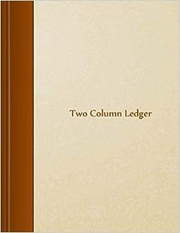 Two Column Ledger: 8.5 X 11, 105 Pages