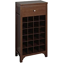 Winsome Trading Winsome Wood Wine Cabinet, Walnut