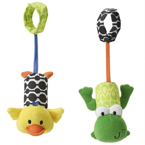 Infantino Tag Along Chimes, Frog And Duck front-3202