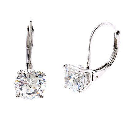 .75Ct Tw Simulated Diamond Engagement Bridal (.925) S/S Earrings (Nice Holiday Gift, Special Black Firday Sale)
