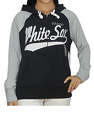MLB CHICAGO WHITE SOX Womens Athletic Warm Zip-Up Hoodie