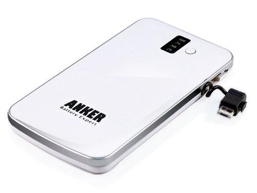 Anker+SlimTalk+3200mAh+バックアップ・エクスターナルバッテリー・パック+%26+MicroUSB付チャージャー+%26+iPhone用フラッシュライト+-+白+[極薄0.4インチサイズ]