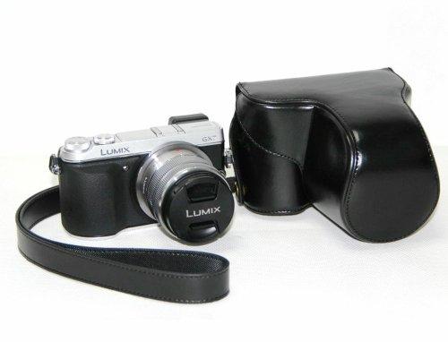 Handmade Genuine real Leather Half Camera Case bag cover for Olympus OM-D E-M5 EM5 Black color