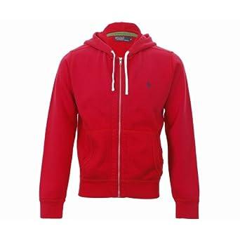 POLO Ralph Lauren - Sweats à capuche - Homme - Hoodie Zippé Rouge Lacquer - S