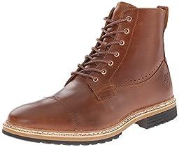 Timberland Men\'s West Haven 6 Inch Side-Zip Boot, Tan Full Grain, 10.5 M US