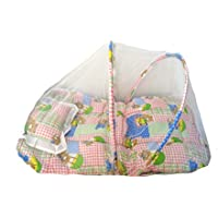 Cotton Baby Bedding Set With Mosquito Net Protection - 81CM