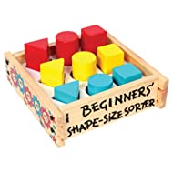 Skillofun Beginner's Shape Size Sorter, Multi Color