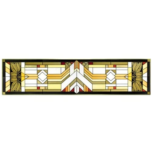 Amazon.com - Mission Craftsman Style Geometric Horizontal Art Glass