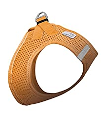 Curli Plush Vest Air Mesh Harness Orange Small