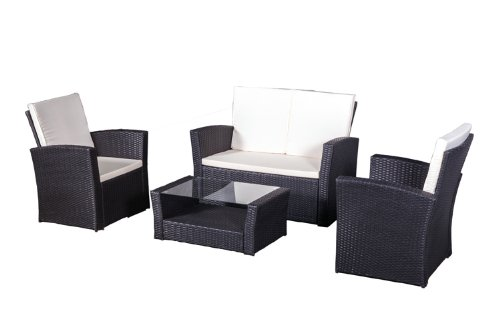 polyrattan sitzgruppe salvador schwarz kaufen. Black Bedroom Furniture Sets. Home Design Ideas
