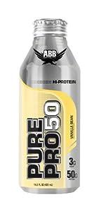 ABB Performance Pure Pro 50 Shake, Vanilla Bean, 14.5-Ounce Bottles (Pack of 12)