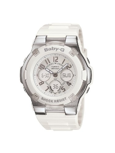 Casio Women'S Bga110-7B Baby-G Shock Resistant White Analog Sport Watch