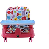 Intra Kids Height Adjustable Royal Booster Seat with Wheels (Pink)