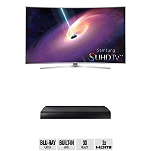 Samsung UN48JS9000 Curved 48-Inch TV with BD-J7500 Blu-ray Player by Samsung