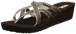 Teva Women\'s Mush Mandalyn Ola 2 W Sandal,Float Chocolate Brown,5 M US
