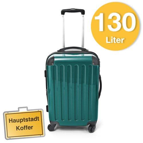 Hartschalen Koffer Waldgrün Hochglanz max.130
