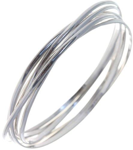 Modern 925 Sterling Silver Ladies Bangle - 31 Grams