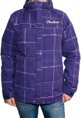 Damen Snowboard Jacke Horsefeathers Sagita Jacket Insulated Women purple plaid XS