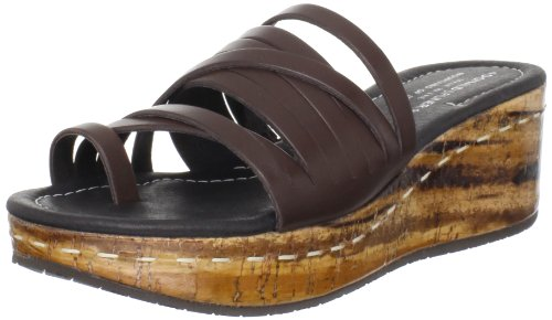 Donald J Pliner Women's Sheena Wedge Sandal,Expresso/Tan,6 M US