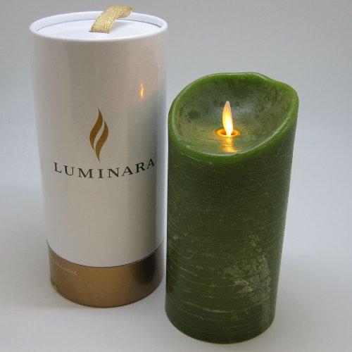 LUMINARA LEDキャンドル グリーン/香料:フォレスト 7インチ【LM201-GR】 LM201(GR)