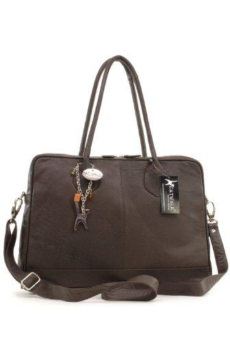 sacs port s paule sac de travail a4 grosvenor en cuir noir sign catwalk collection chocolat. Black Bedroom Furniture Sets. Home Design Ideas