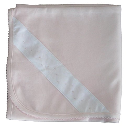 Kissy Kissy Baby-Girl Infants New Beginnings Receiving Blanket-Pink-One Size